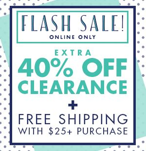 Extra 40% off clearance plus Free Shipping w/ $25+ Purchase