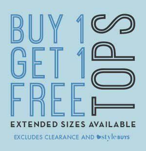 Buy 1 Get 1 Free Tops