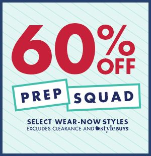 60% off the prep squad!