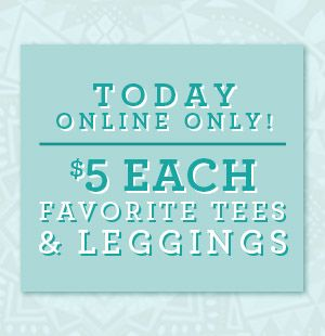 $5 Tees and Leggings