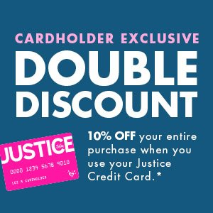 justice for girls credit card account