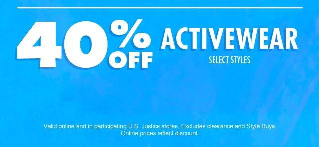 Shop 40% off activewear!