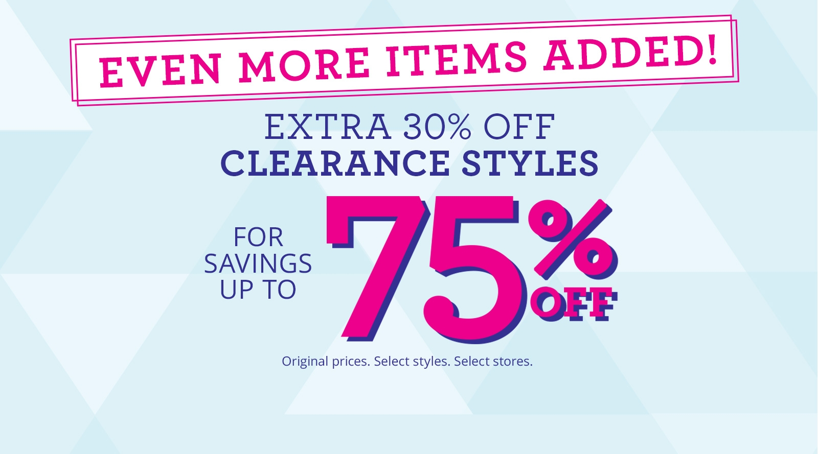 Get Set for Summer Clearance Event