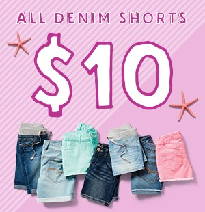 $10 All Denim Shorts
