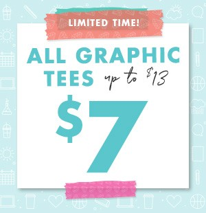 $7 Graphic Tees