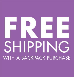 Free shipping with a backpack purchase