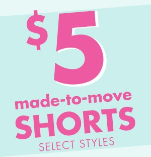$5 Core Active Shorts