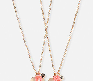 BFF Paris Heart Locket Necklaces