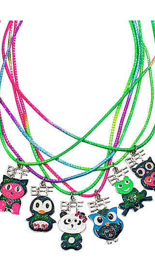 BFF Mood Critter Necklace - 6 Pack