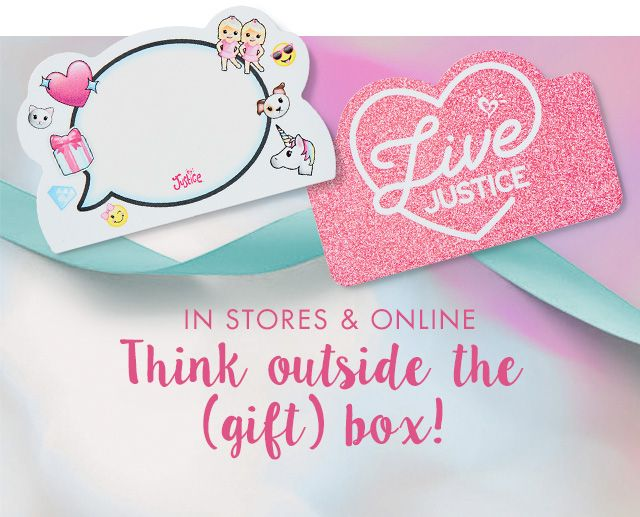 Justice gift cards and eGift cards