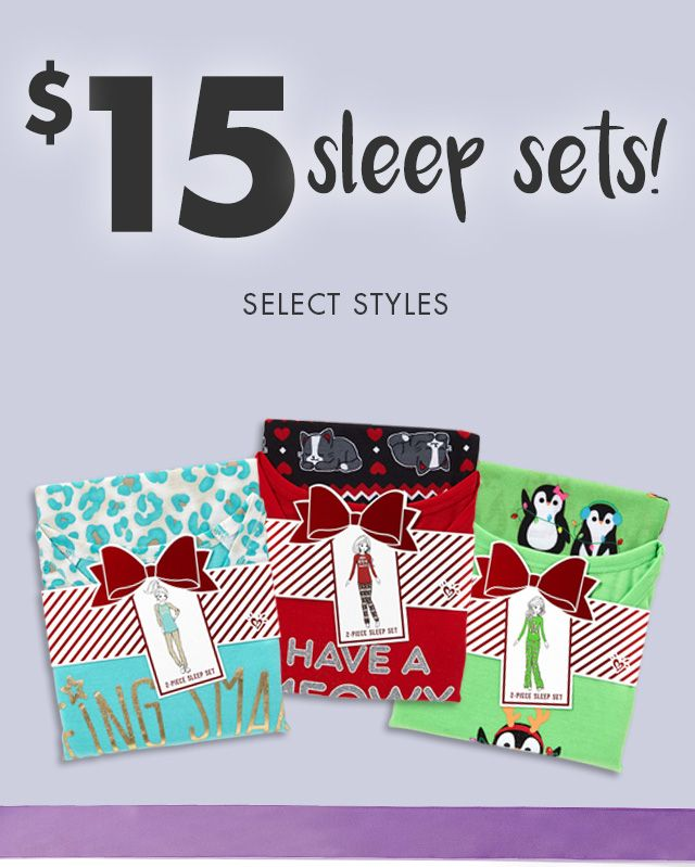 $15 Sleep Sets