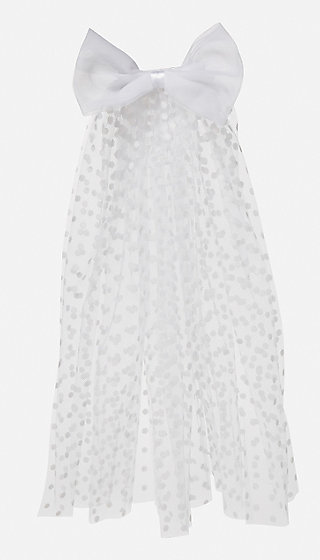Pretty Polka Dot First Communion Veil
