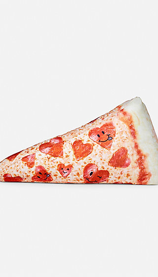 pizza microbead pillow