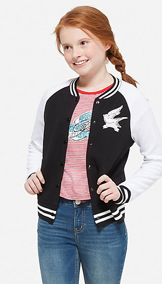 Snap-Up Varsity Bomber Jacket