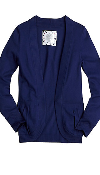 School Uniform Cocoon Sweater Cardigan