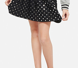 Pleated Dots Skirt
