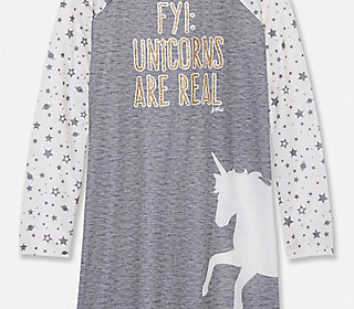 Unicorns Are Real Nightgown