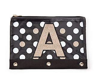 Initial Polka Dot Pouch