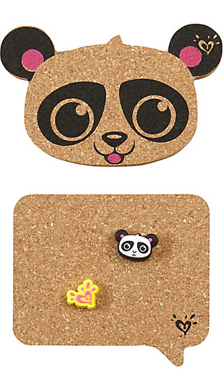Panda Cork Magnetic Locker Set