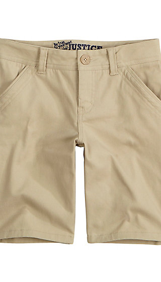 School Uniform 8 in. Bermuda Shorts