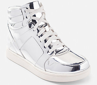 Metallic High Top Sneakers