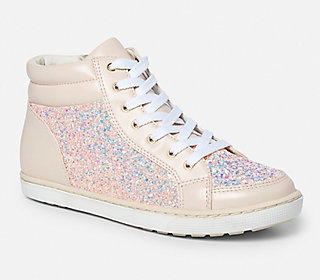High Top Embellished Blush Sneakers