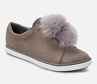 Fur Pom Low Top Sneaker