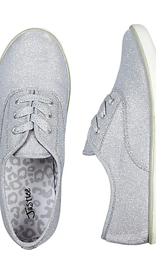 Shimmer Lace Up Sneakers