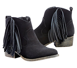 Shorty Fringe Western Boots
