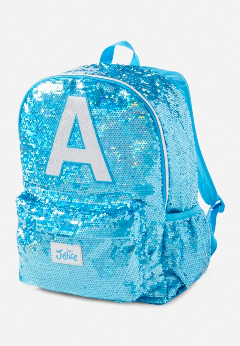 """Justice Flip Sequin Initial Mermaid Mini Rucksack Initial """" S """" Brand New With Tags * Item # * Under the sea style for on the go * Sweet mini backpack * Shimmering flip sequin * Magical mermaid tail accent * Personalized with her own initial * Flap and drawstring closure * Adjustable shoulder straps *"""