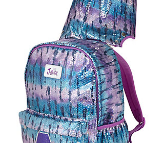 Dye Effect Initial Removable Hooded Backpack