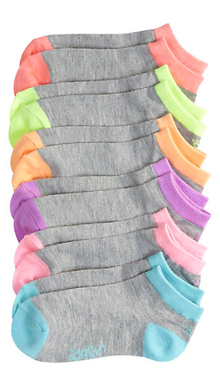 6 Pack Colorblock Socks