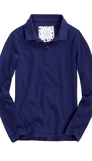 School Uniform Long Sleeve Jersey Polo