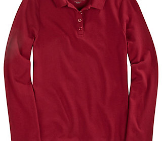 School Uniform Long Sleeve Pique Polo