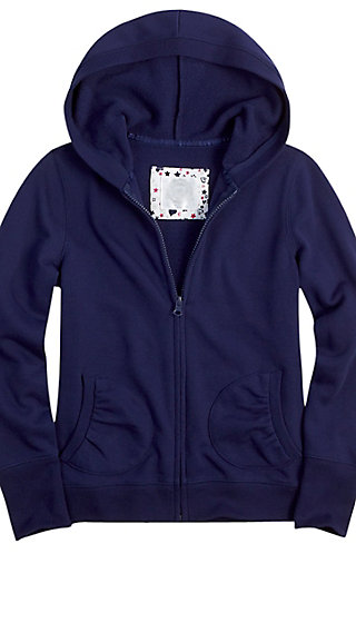 School Uniform Zip-up Sweatshirt