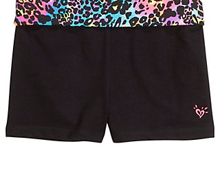 Printed Waistband Yoga Shorts