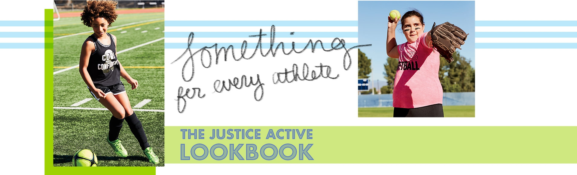 Explore the justice active lookbook!