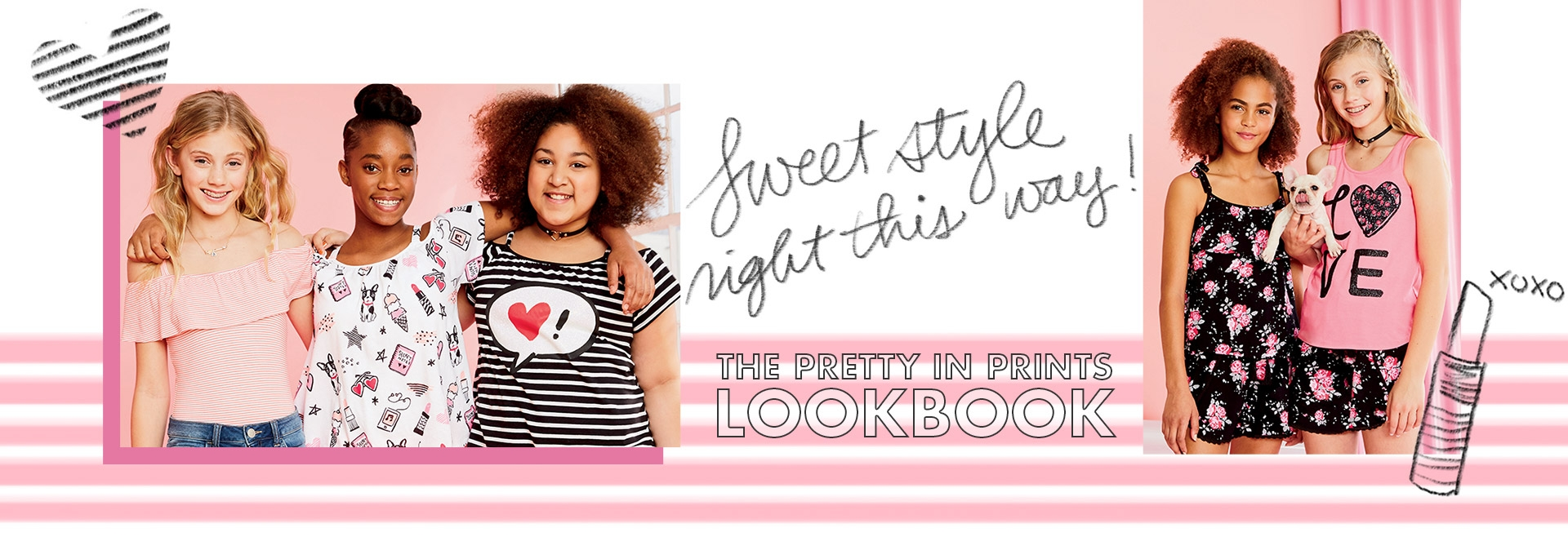 Explore the pretty in prints lookbook!