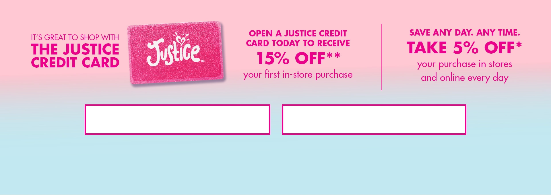 Justice Private Label Credit Card