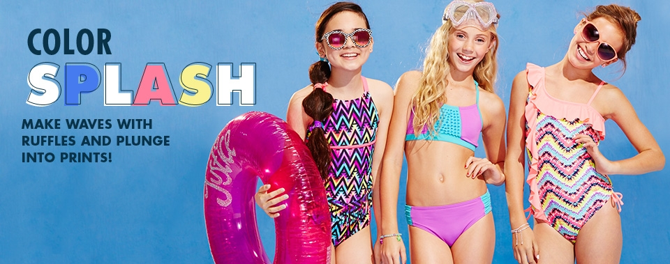 Shop Justice Swimwear now!