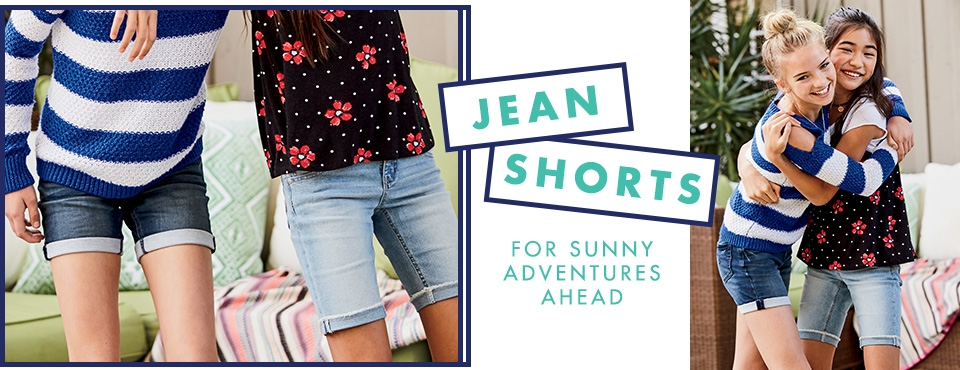 Shop Justice Jean Shorts for sunny adventures ahead!