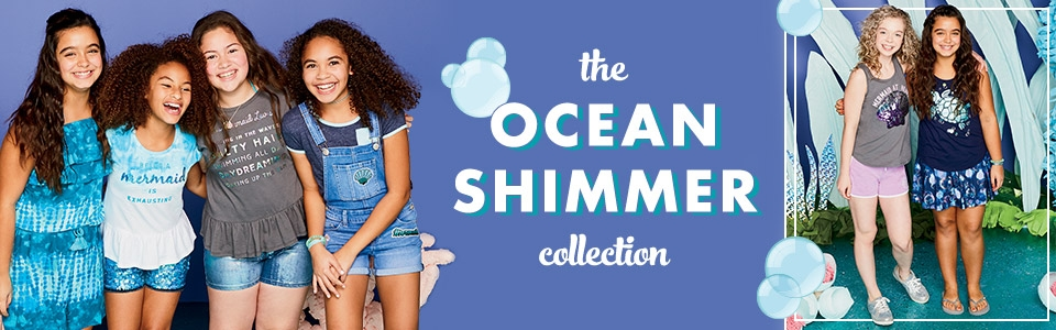 The ocean shimmer collection