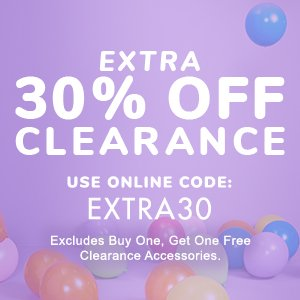 Clearance Offer 30% Off