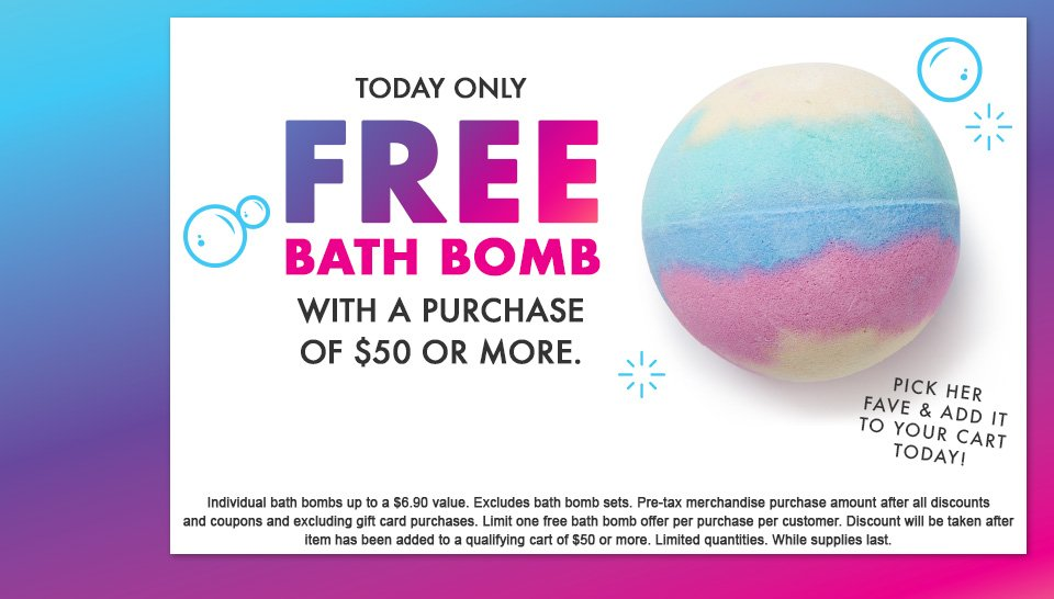 Free Bath Bombs