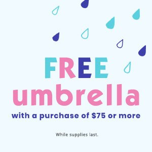 88c0623971 Free Umbrella gift with purchase