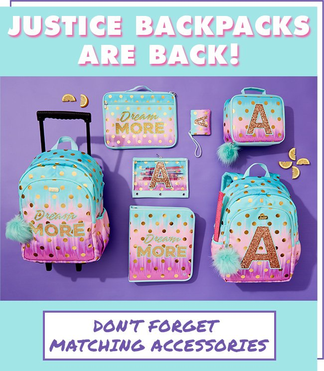 Justice Backpacks Are Back!