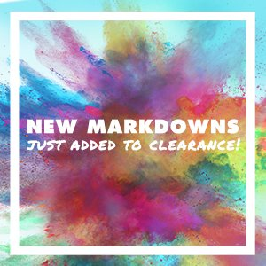 New Markdowns Just Added To Clearance!
