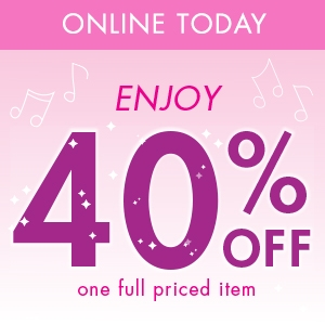 40% off one full priced item