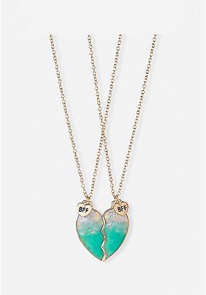 539bc368a965e1 BFF Confetti Heart Pendant Necklace - 2 Pack