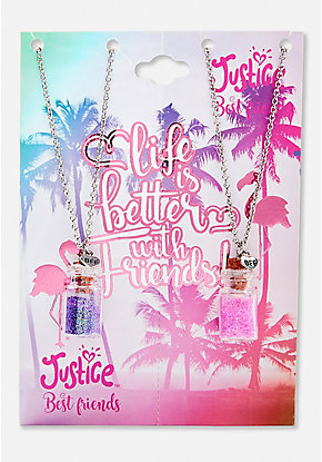BFF Flamingo Potion Necklace - 2 Pack